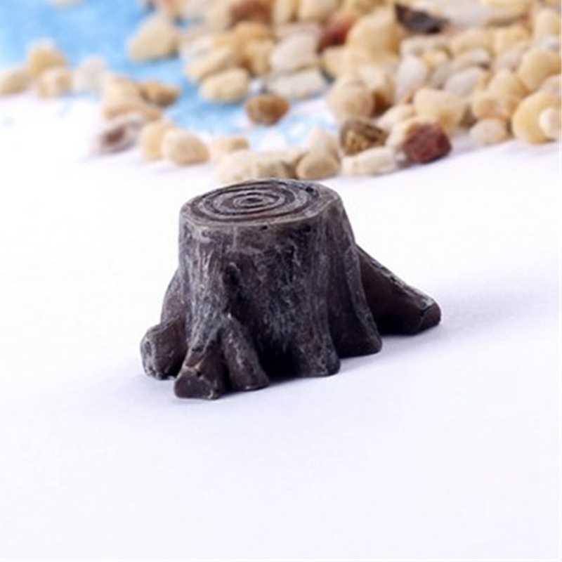 الطحلب المشهد الصغير الديكور البسيطة محاكاة جدعة صغيرة البستنة زخرفة حوض السمك المناظر الطبيعية الإمدادات السمكية تانك حلية