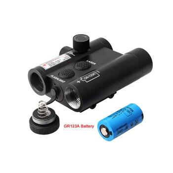 New 9903 Green Laser Adjustable Tactics Flashlight For 20mm Rail