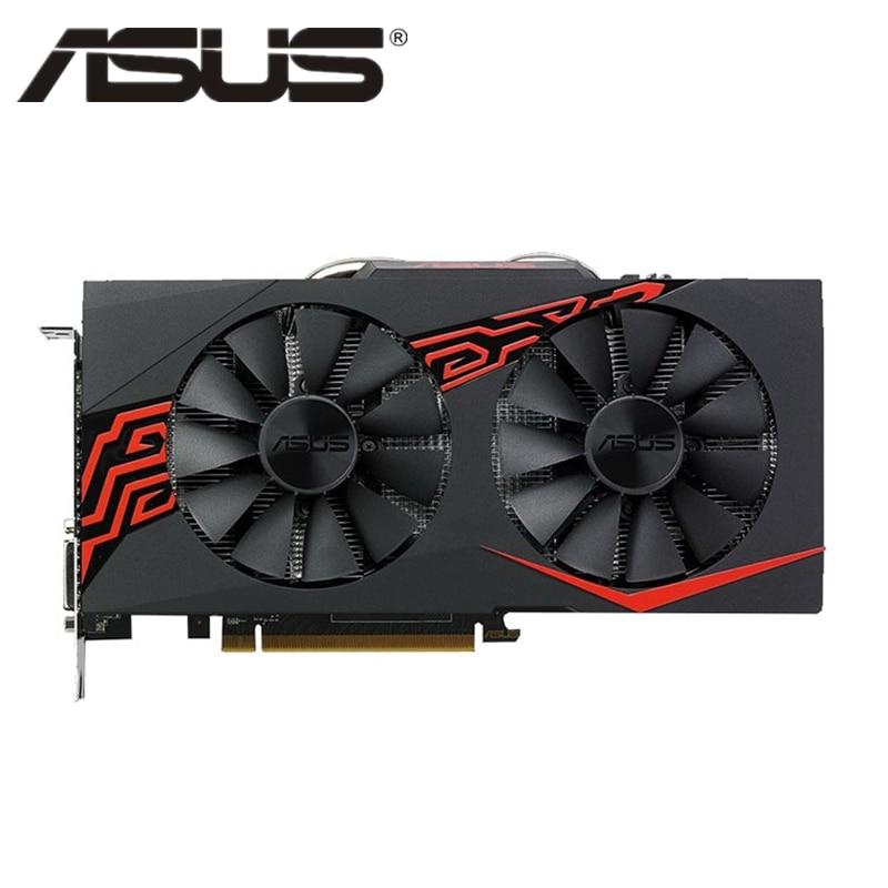 Original ASUS RX 570 4GB Video Karte GPU Radeon RX570 4GB Grafikkarten AMD Computer Spiel Bildschirm Karte 580 560 550 VGA Grafik