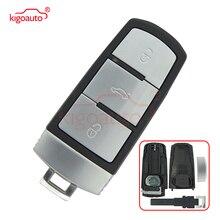 Kigoauto Keyless entry smart car key shell case for VW Volkswagen Magotan Passat CC 2005 - 2010 3C0 959 752BA 3 button kigoauto 2pcs smart key 3c0 959 752 ba id48 chip 3button 434mhz for vw magotan passat cc 2005 2006 2007 2008 2009 2010