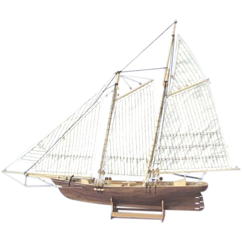1: 120 Wooden Assembled Sailing Ship Model DIY Western Classical Sailing Ship Assembled Set Sailing Model