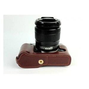 Image 5 - אמיתי עור פרה עור חצי גוף מקרה מצלמה תיק כיסוי עבור Fujifilm X T30 X T20 X T10 XT10 XT20 XT30 עם סוללה פתיחה