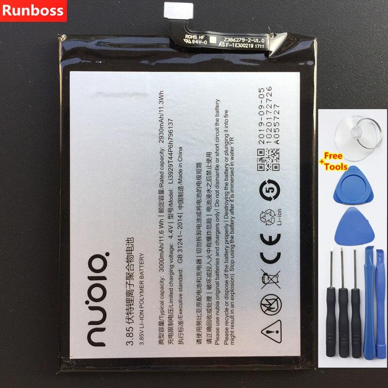 100% Original 3000mAh Li3929T44P6h796137 pour ZTE Nubia Z11 Mini S Nubia Z17 Mini MiniS NX549 NX549J NX569 NX569J NX569H batterie
