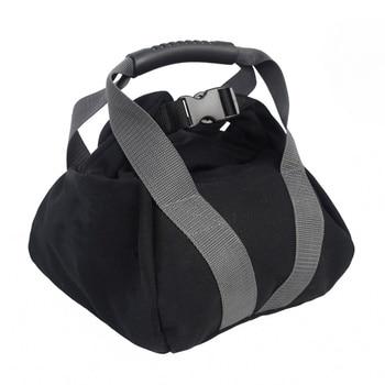 Bolsa de arena con pesas ajustable, cascabel de arena portátil, bolsa de arena suave, levantamiento de pesas para gimnasio, musculación, Yoga, entrenamiento