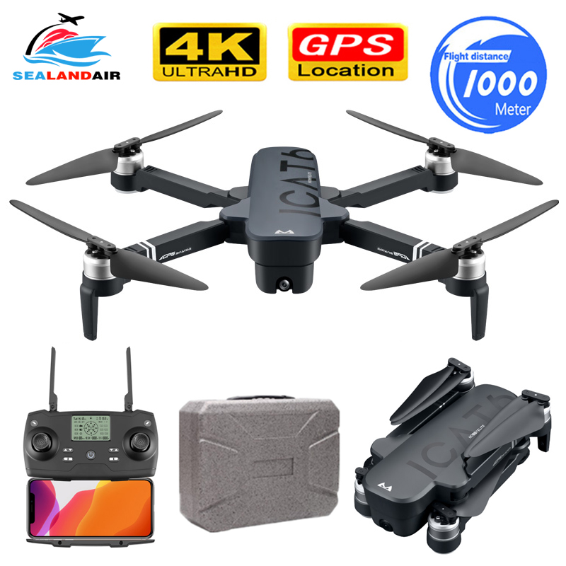 RC Drone 4K With ESC Dual HD Camera 5G WIFI Video FPV Optical Flow Helicopter Brushless Foldable Drone GPS Follow Me Quadcopter
