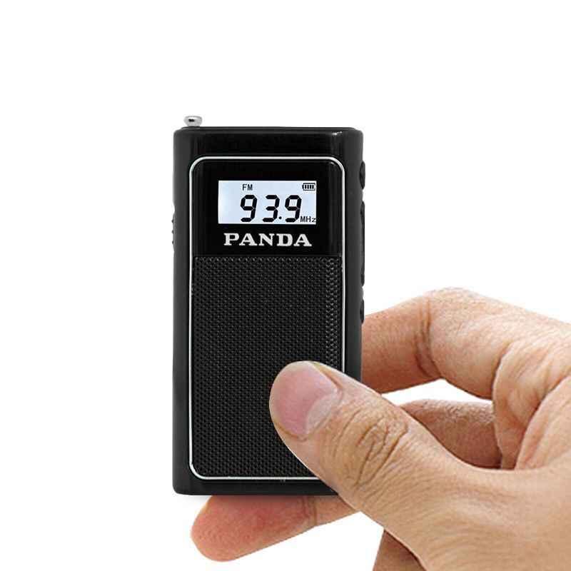 ポータブルミニポケット FM ラジオ受信機ラジオ屋外 DSP チップステレオ TF カード WMA MP3 イヤホン液晶充電式プレーヤー