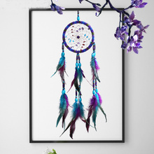 National Style Colorful Handmade Weaving Dreamcatcher Charm Creative Novel Bedside Decoration Pendant Dream Catcher Kids Gifts