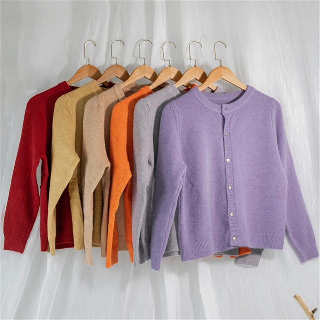 Ailegogo New 2020 Women's Sweaters Autumn Winter Fashionable Korean Style Wild Knitted Buttons Cardigans Lady Knitwear SWC1043 2