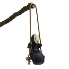 Spirited Away No Face Man Figure Pendant Necklace Miyazaki Hayao Creative Kawaii DIY Swing Cartoon Toys Resin Process Decoration цена