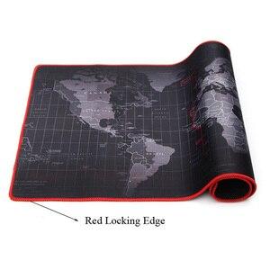Image 3 - Tapis de souris de Gaming personnalisé, grand format, cartes du monde antidérapant, en caoutchouc naturel, pour bureau CSGO Dota LOL