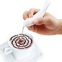 VOGVIGO Новая электрическая латте художественная ручка для кофейного торта ручка для специй украшения торта ручка для вырезания кофе ручка для выпечки Кондитерские инструменты