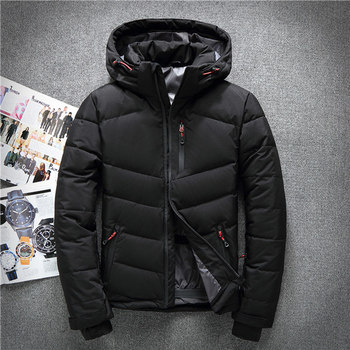 Winter Hooded White Duck Down Jackets Men Warm High Quality Warm Down Coats Male Casual Winter Outerwer Down Parka