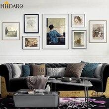 2020 nuevo estilo gran oferta Vintage pintura decorativa de pared americana y europea cuadros lienzo impresión póster arte decoración del hogar