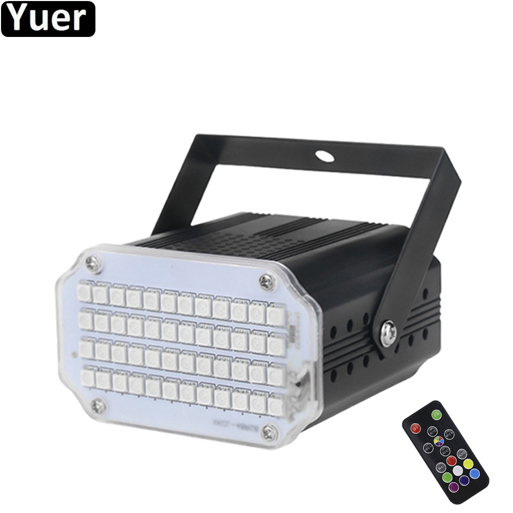 48 LED RGB 3IN1 Strobe Light Disco DJ Party Bar Christmas Club Remote Sound Activated Flash Light Stage Lighting Effect Par Lamp