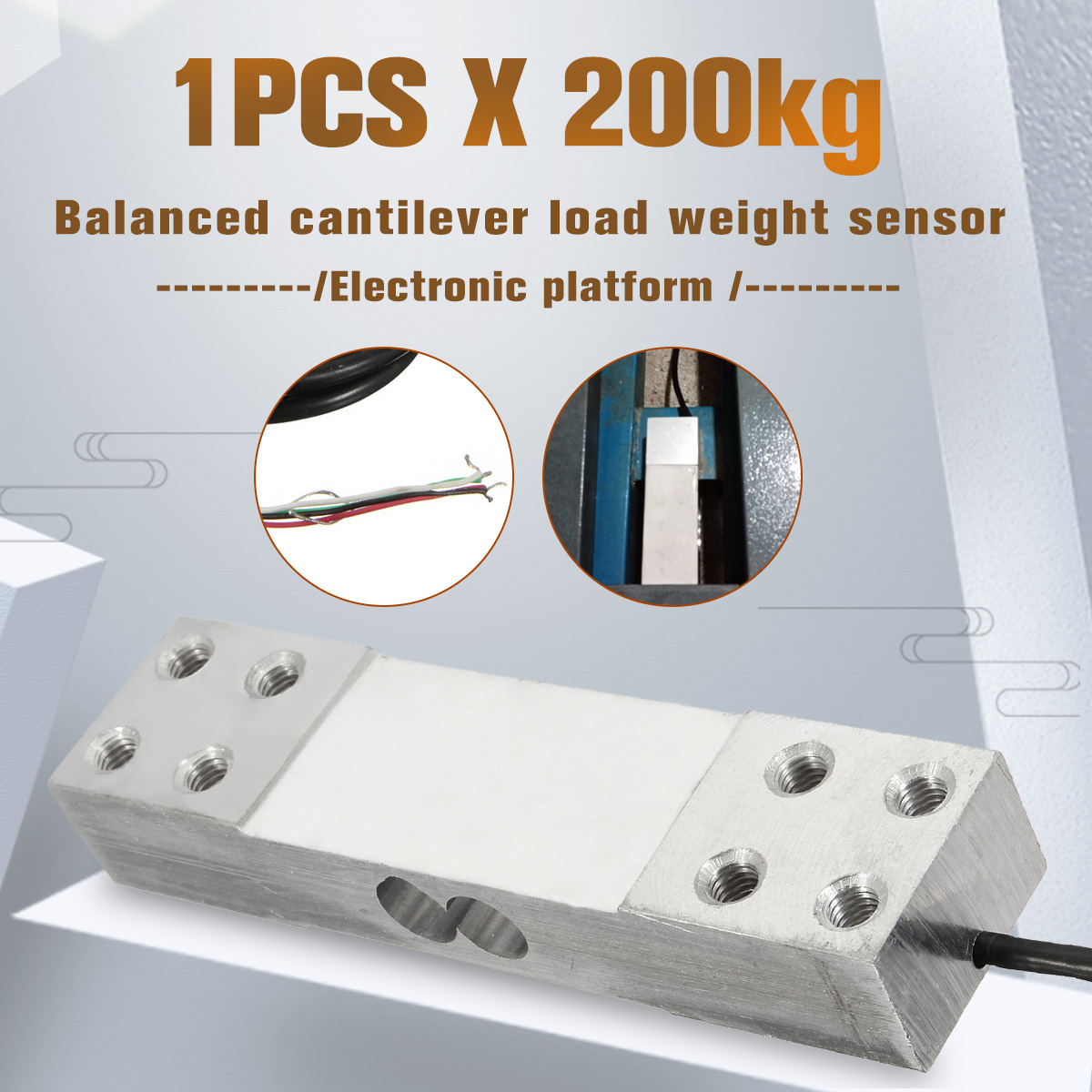 1pcs 200kg Electric Platform Scale Load Cells Pressure Sensor Cantilever Load Weight Sensor Measurement Tools New Arrival 2020