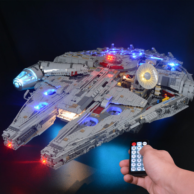 Kit de luz Led para Halcón Milenario de 75192 y 05132, modelo de bloques de construcción (no incluye juego de bloques)