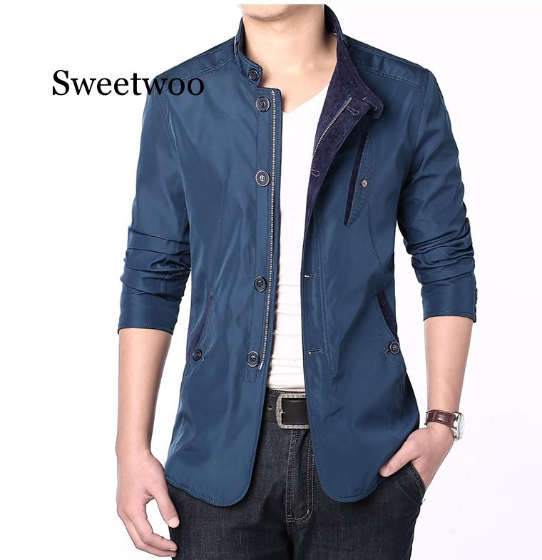 Men's Jackets 2020 Men New Casual Jacket Coats Spring Regular Slim Jacket Coat for Male Wholesale Plus Size L-4XL