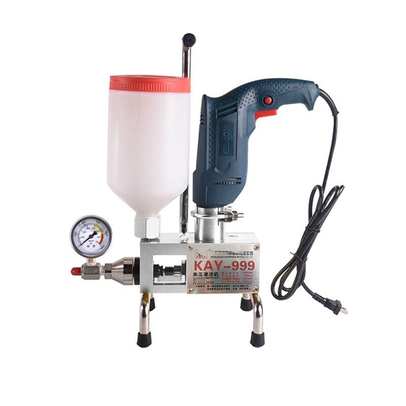 Kay-999 de alta pressão à prova dgrouágua rebocando a máquina 910w bomba de injeção epóxi/poliuretano rebocando ferramenta de vazamento líquido
