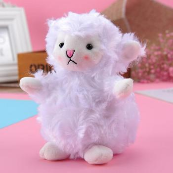 Hanging Plush Design Stuffed Doll Toy Bag Pendant Keychain Key Holder Decor Lamb Children Education Toys For Birthday Gift image