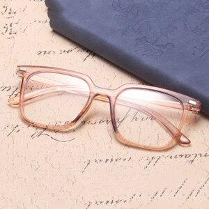 Image 2 - الموضة الكلاسيكية ساحة مكافحة نظارات الضوء الأزرق الرجال نظارات الكمبيوتر للنساء 2020 العلامة التجارية مصمم إطار نظارات شمسية شفافة