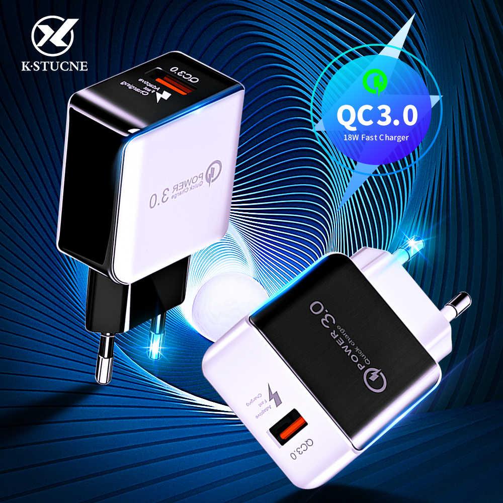 Kstucne Sạc Nhanh Quick Charge 3.0 Sạc USB 18W QC3.0 QC Sạc Nhanh Đa Cắm Sạc Điện Thoại Di Động Cho iPhone Samsung xiaomi Huawei
