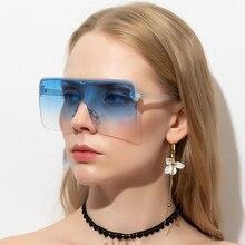 2020 Oversized Square Female Sunglasses Women Fashion Flat T