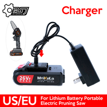 Charger for 21V 24V 26V Lithium Battery Portable Electric Pruning Saw Rechargeable Electric Saws Woodworking by US/EU