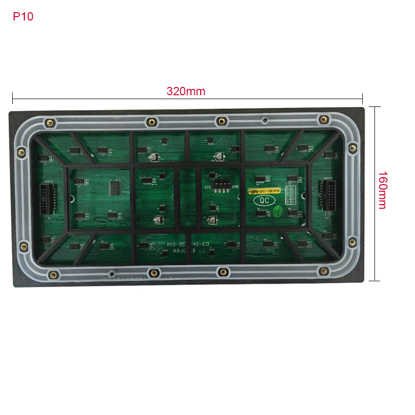 12pcs 320*160mm P10 Module + Two HD-D10 Controller + Two Power Supply