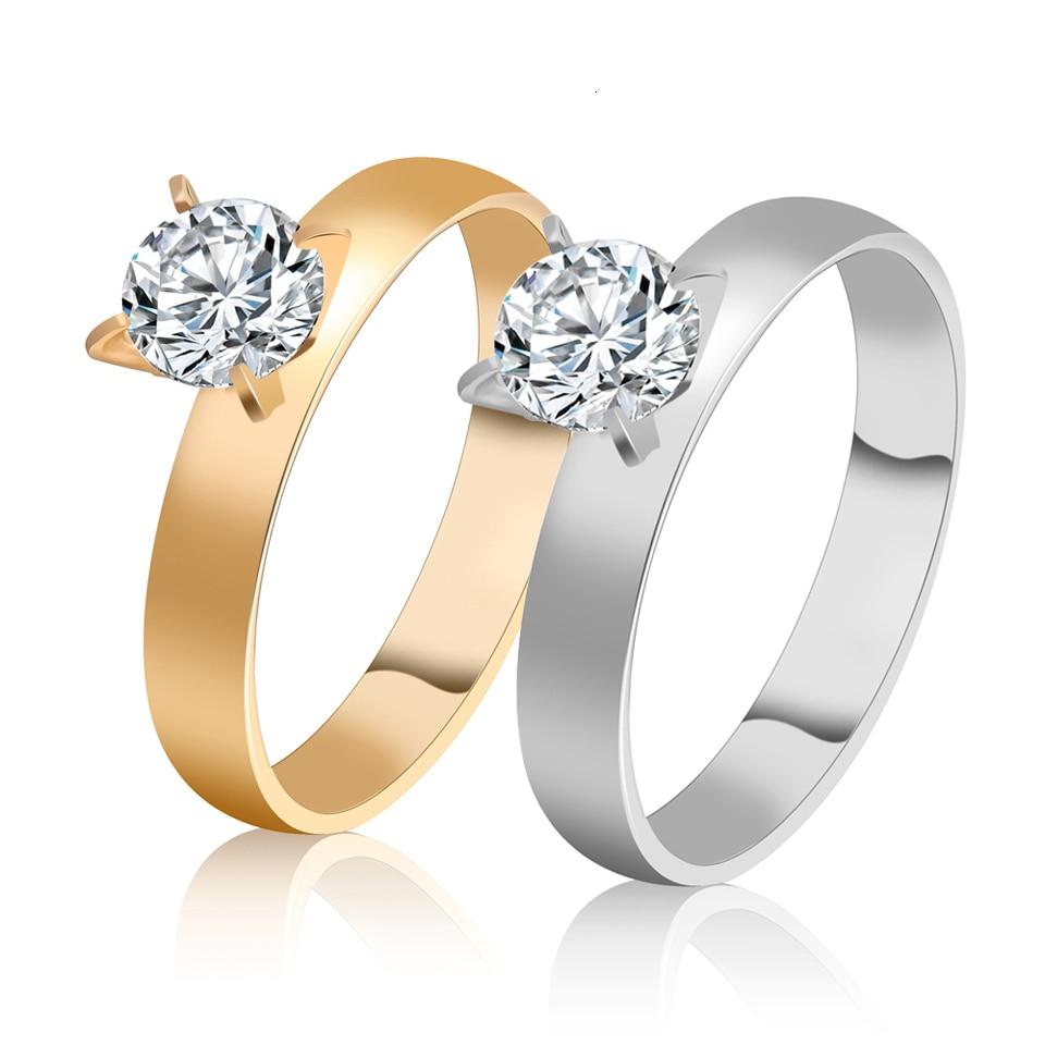 Trendy Rose Gold Žene od nehrđajućeg čelika, vjenčani prstenovi - Modni nakit - Foto 4