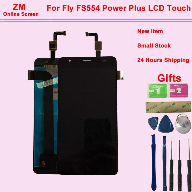 5.5 Polegadas Para Voar FS554 Power Plus Display LCD Com Tela de Toque Digitador Assembléia Sensor de Substituição Com Ferramentas + 3 3M Adesivo