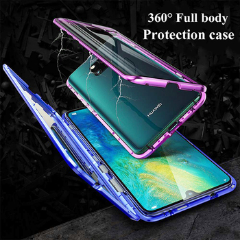 Magnetic Cases For Honor 10i 20I 10 20 Lite 8X For Huawei P40 P30 P20 Lite Mate 20 Pro Double Sided Tempered Glass Mobile Cover