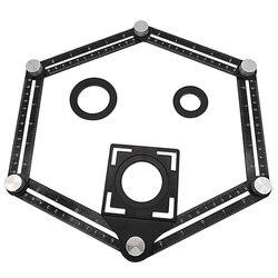 Stop aluminium sześciokrotny linijka płytka otwierająca Locator błoto płytka sklep wklej płytki podłogowe szkło Vientiane uniwersalny dziurkacz|Zestawy narzędzi ręcznych|   -