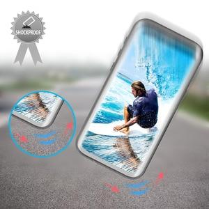 Image 3 - IP68 حافظة هاتف ضد الماء لهواتف سامسونج نوت 20 10 9 حافظة حماية 360 لهاتف جالاكسي S20 الترا S9 S10 بلس حافظة مضادة للماء