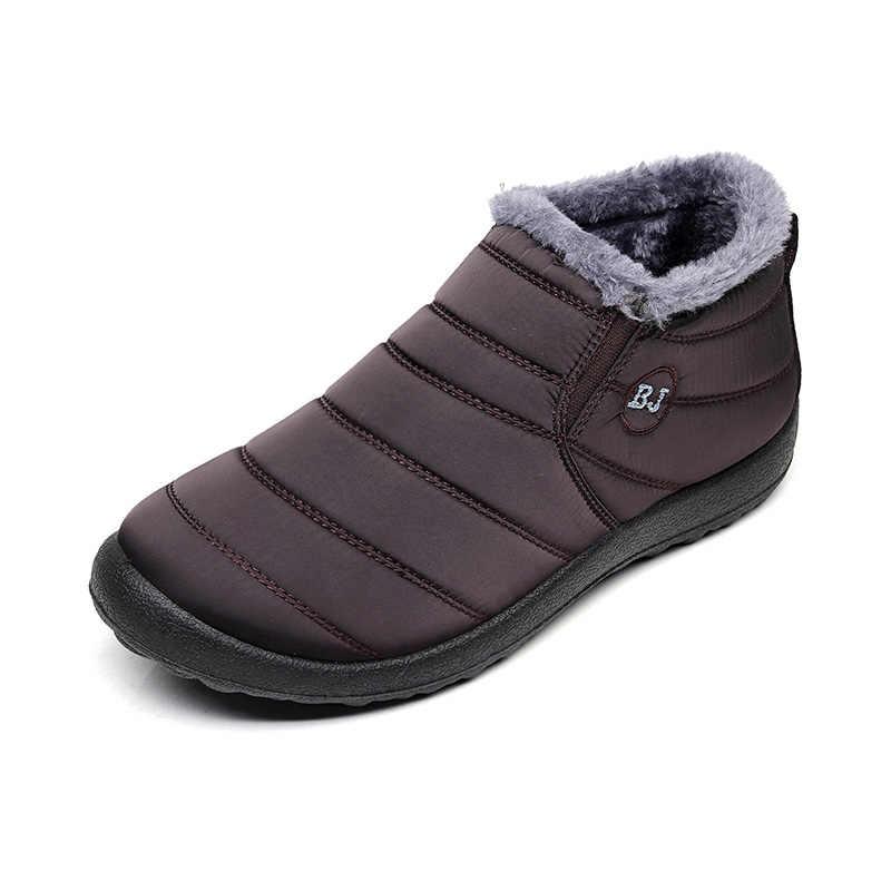 נשים מגפי 2019 אופנה החורף חם שלג מגפי נשים קרסול מגפי חורף נעלי Botas Mujer בפלאש נעלי אישה בתוספת גודל
