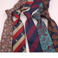 Linbaiway 7 см мужские галстуки с пейсли цветами для мужчин