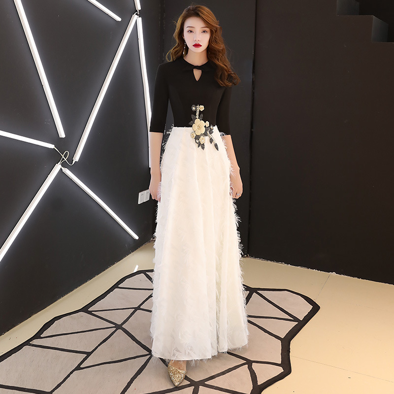 Temperament Evening Dress Dress Female 2019 New Spring Annual Meeting Host Celebrity Party Noble Elegant Long Style