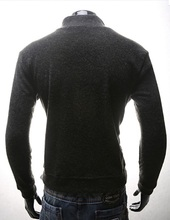 ZOGAA 2020 Men Sweater Long-sleeved Button Knitted Shirts Large Size Double Breasted Pullovers Solid Men Winter Clothes