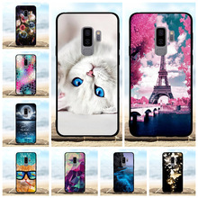 For Samsung Galaxy S9 Plus Case Soft TPU Silicone G965F Cover Dog Patterned Shell