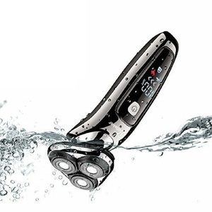 Image 4 - wet dry electric shaver facial electric razor for men male beard shaving machine rotary head usb rechargeable 2in1 grooming kit