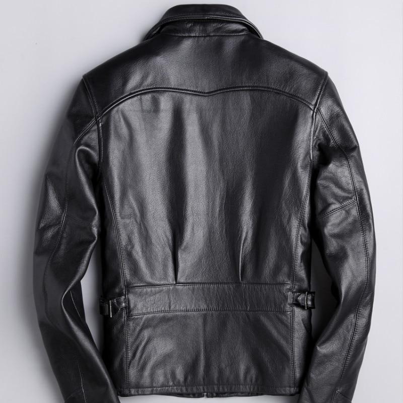Cow Men Korean Motorcycle Real Leather Jacket Mens Clothing Jaqueta De Couro 1210 YY1020