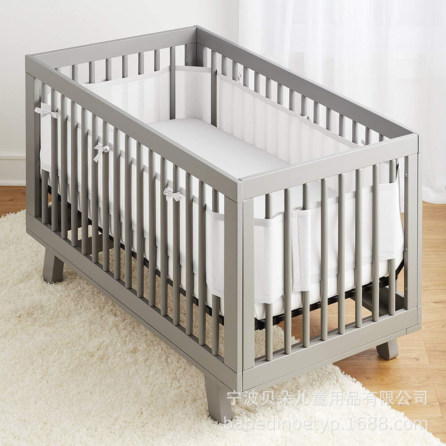 Baby Bed Fence Bar Spring And Summer 3D Breathable Baby Anti-Collision Bedding Package Washable Sandwich Bed Fence