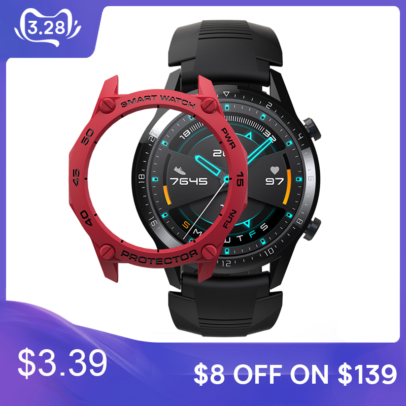 For Huawei Watch Case Cover Shell Frame Bumper Protective For Huawei GT 2 Smart Watch Wearable Accessories Protector GT2