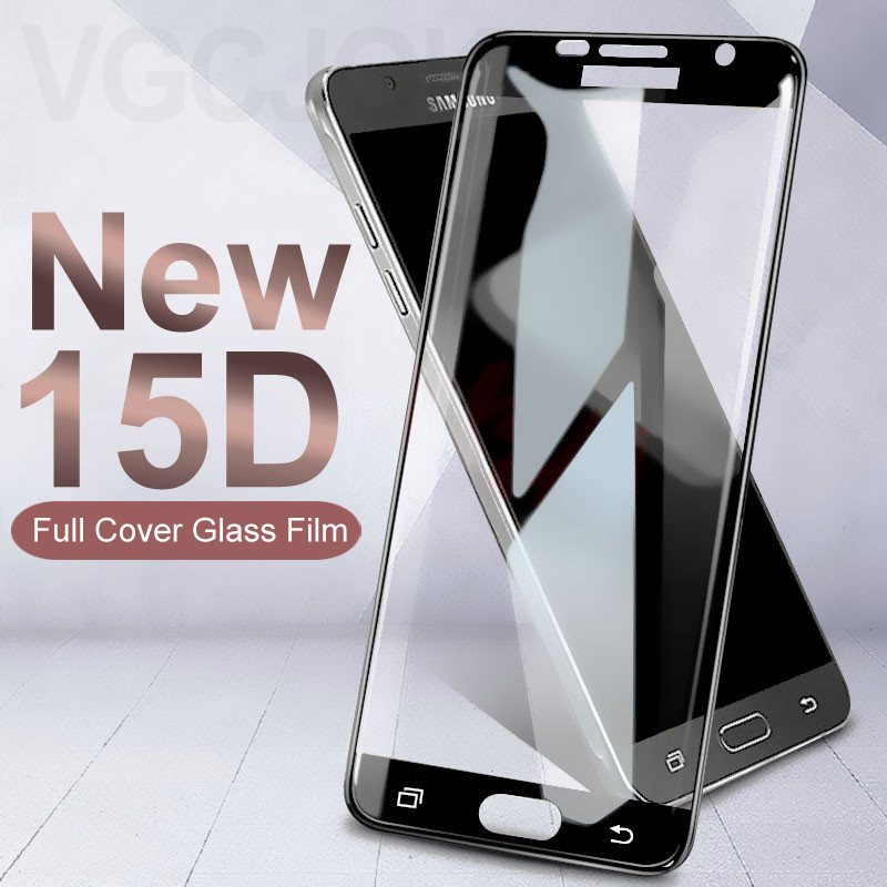 15D Protective Glass on the For Samsung Galaxy S7 A3 A5 A7 2017 J3 J5 J7 2016 2017 Version Tempered Screen Protector Glass Film