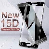 15D Schutz Glas auf die Für Samsung Galaxy S7 A3 A5 A7 2017 J3 J5 J7 2016 2017 Version Gehärtetem screen Protector Glas Film