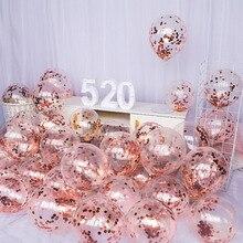 Латексный воздушный шар «Конфетти», 10 шт., 12 дюймов, вечерние украшения для первого дня рождения, 1 год, товары для свадьбы для маленьких мальчиков и девочек
