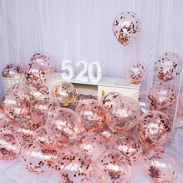 10 adet 12 inç lateks Confetti balon ilk mutlu doğum günü partisi dekorasyon 1st bir yıl bebek çocuk yetişkin erkek kız düğün malzemeleri