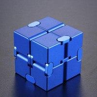 Магический бесконечный кубик для снятия стресса, кубик бесконечности, алюминиевый кубик, игрушки премиум класса, металл, деформация, снятие...