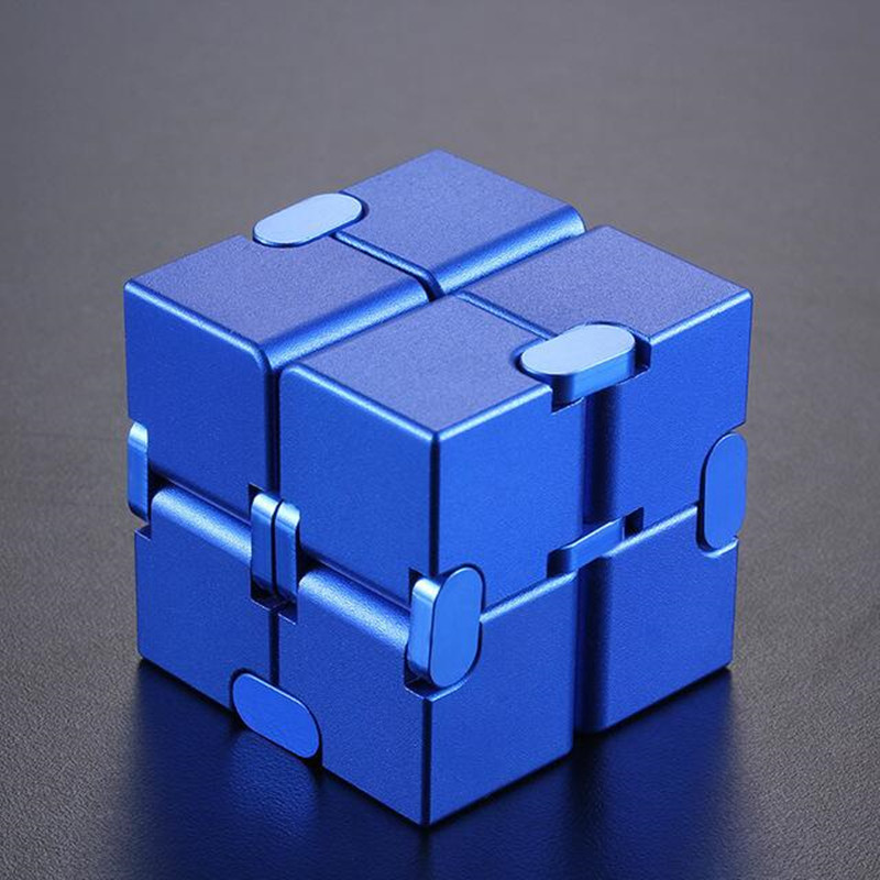 Metal Infinity Magic Cube Blocks For Stress Relief Fidget Anti Anxiety Aluminum