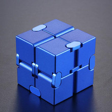 Magical Infinite stress relief Cube infinity cube aluminium Cube Toys Premium Metal Deformation Stress Reliever for EDC Anxiety infinity cube mini finger toy anxiety stress relief blocks children kids funny toys best birthday gift magic cube