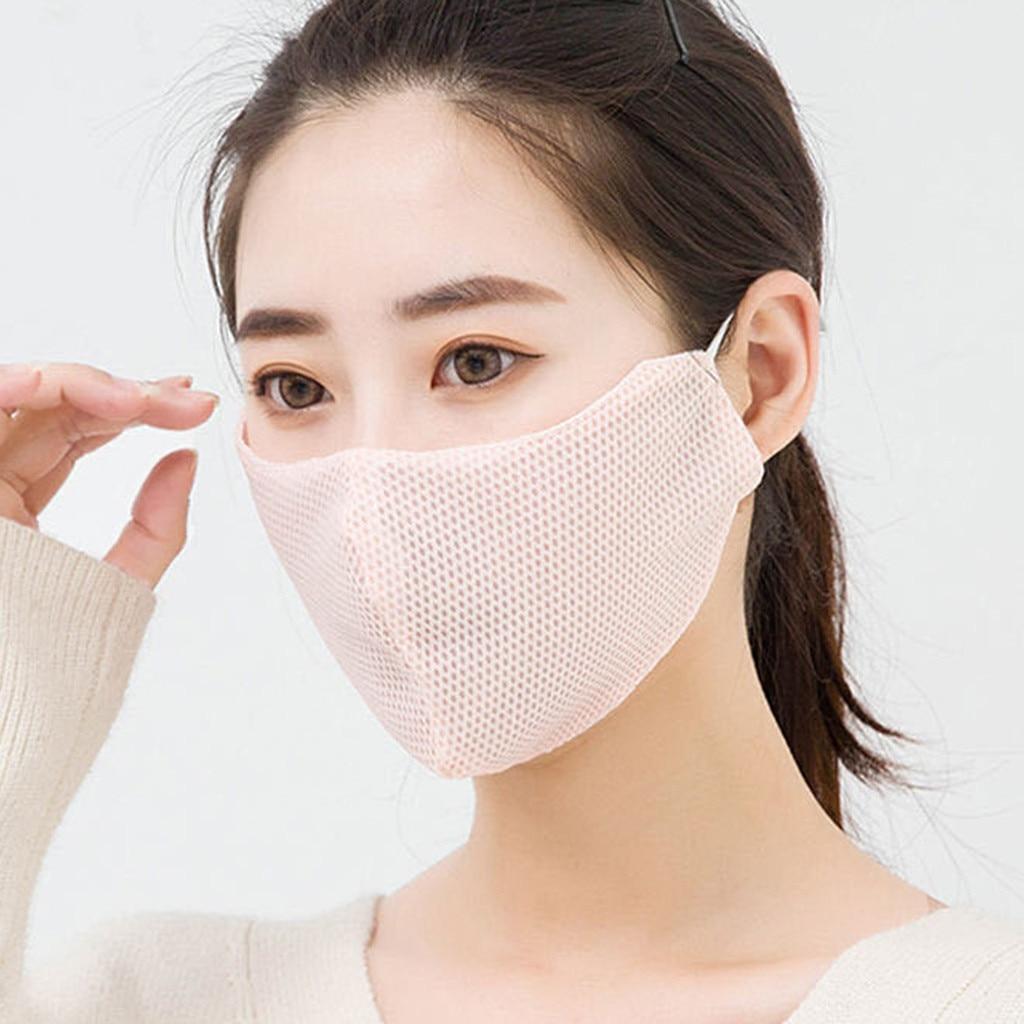 Маска дышащая для взрослых и женщин, тонкая многоразовая моющаяся, сетчатая, мягкое защитное покрытие для лица, на лето